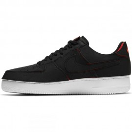 Chaussures NIKE AIR FORCE AF1/1 BLACK CHILE RED- DD2429-001