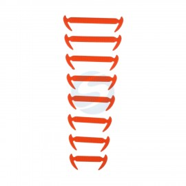 16 PIECES OF ELASTIC LACES FOR SPORTS SHOES - ORANGE