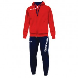 TRACKSUIT GIVOVA KING RED/BLUE