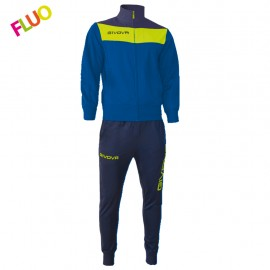 TRACKSUIT GIVOVA CAMPO YELLOW BLUE / YELLOW NEON