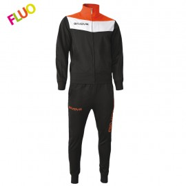 TRACKSUIT GIVOVA CAMPO YELLOW BLACK / ORANGE NEON