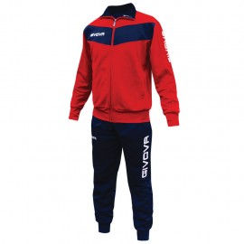 TRACKSUIT GIVOVA VISA RED BLUE
