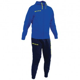 TRACKSUIT GIVOVA POKER YELLOW ROYAL/ BLUE