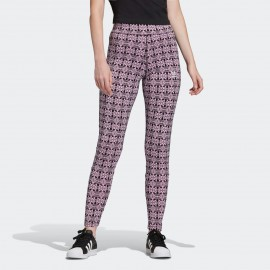 LEGGINGS DONNA ADIDAS TREFOIL ALLOVER PRINT TIGHTS - FL4133