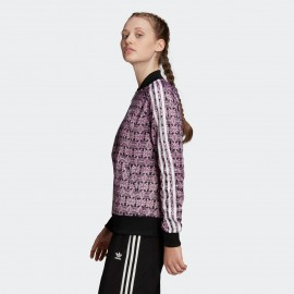 GIACCA DONNA ADIDAS TRACK JACKET TREFOIL ALLOVER - FL4120
