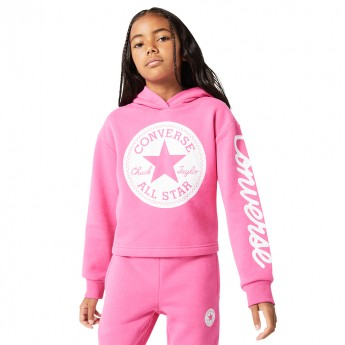 FELPA BAMBINA CONVERSE CHUCK TAYLOR PATCH CROPPED HOODIE - 369889-A3J